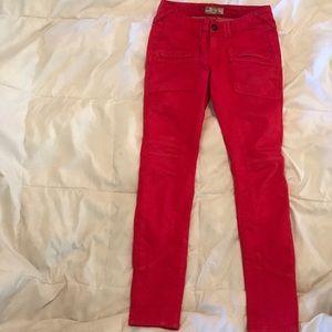 Free People Red Pants